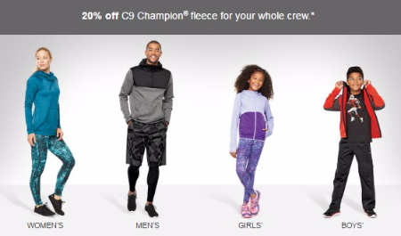 20% Off C9 Champion Fleece