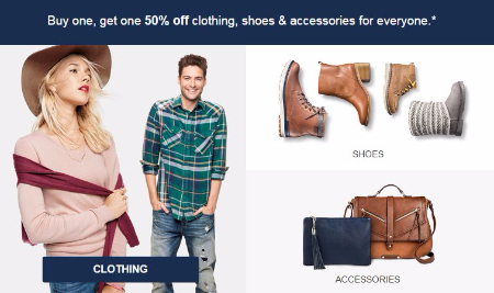 BOGO 50% Off Clothing, Shoes & Accessories for Everyone