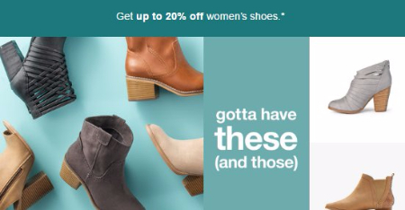 Get up to 20% Off Women's Shoes