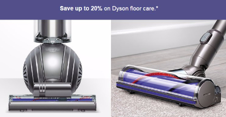 Up to 20% Off Dyson Floor Care