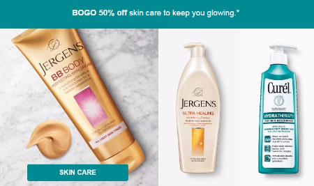BOGO 50% Off Skin Care