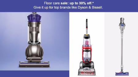 Floor Care Sale up to 30% Off
