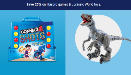 Bridgewater Falls ::: Save 20% Hasbro Games & Jurassic World
