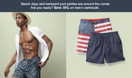 6667d6061180e Wareham Crossing ::: Save 30% on Men's Swimsuits ::: Target