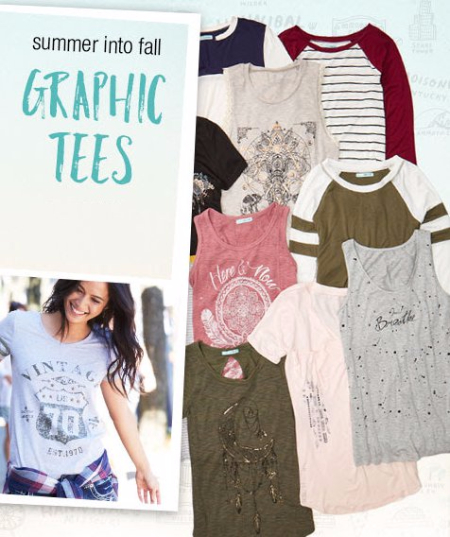 Summer Into Fall Graphic Tees