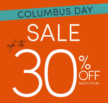 Columbus Day Sale up to 30% Off at maurices
