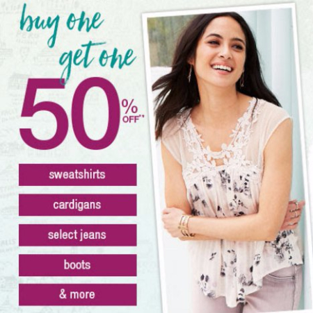 BOGO 50% Off Select Jeans, Boots & More