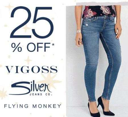 8f0f02711c2 Northwest Arkansas Mall     25% Off Vigoss   Silver Jeans     maurices