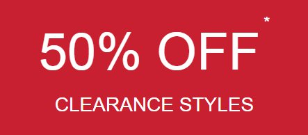 50% Off Clearance Styles from maurices