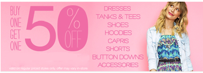 BOGO 50% Off at maurices