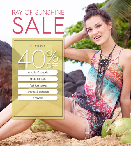Ray of Sunshine Sale at maurices