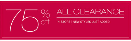 75% Off All Clearance at maurices