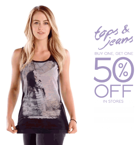 BOGO 50% Off Tops & Jeans at maurices