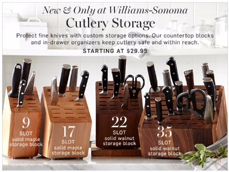 Cutlery Storage Starting at $29.95