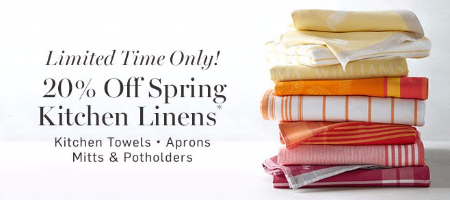 20% Off Spring Kitchen Linens