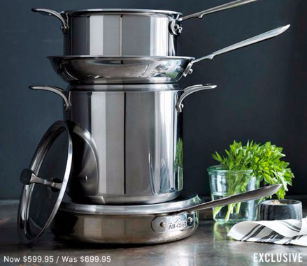 $100 Off All-Clad d5 Stainless-Steel 7-Piece Set