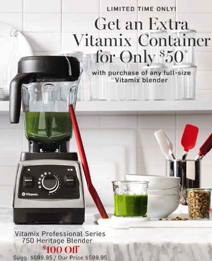 Get an Extra Vitamix Container for Only $50