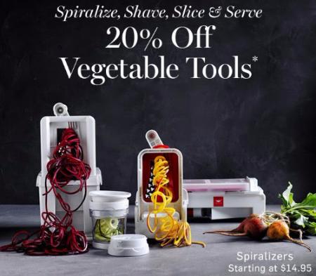 20% Off Vegetable Tools