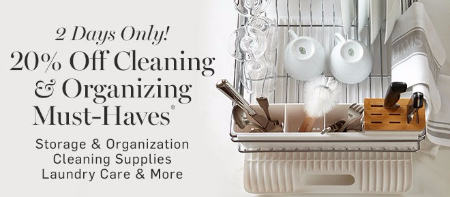 20% Off Cleaning & Organizing Must-Haves