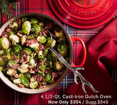 4 1/2-Qt. Cast-Iron Dutch Oven Now Only $304