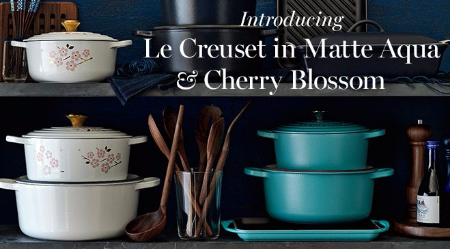 Introducing Le Creuset in Matte Aqua & Cherry Blossom