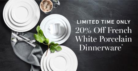 20% Off French White Porcelain Dinnerware & Village of Cross Keys :: 20% Off French White Porcelain Dinnerware ...
