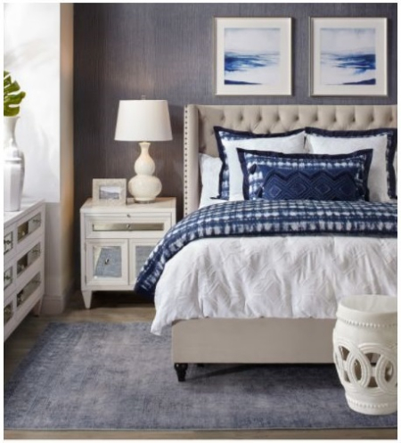 The Village at Meridian ::: Bedroom Blues ::: Z Gallerie