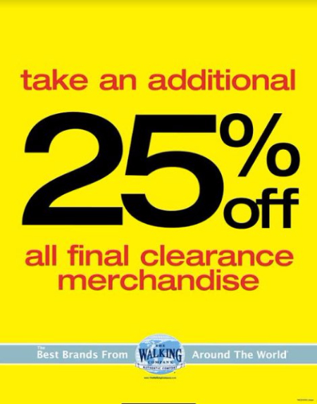 Additional 25% Off Final Clearance