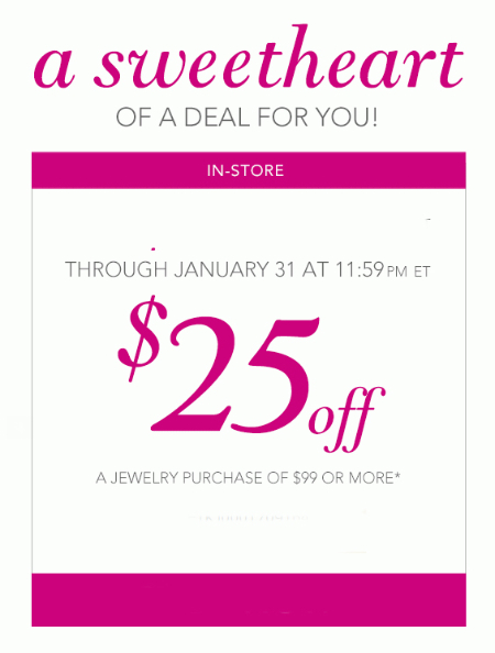 $25 Off $99 or More at Kay Jewelers