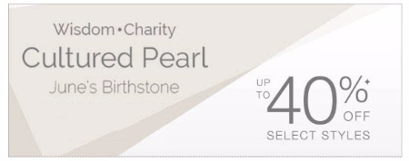 Cultured Pearl up to 40% Off Select Styles