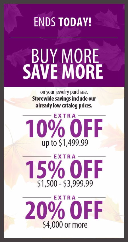 Buy More, Save More on Your Jewelry Purchase