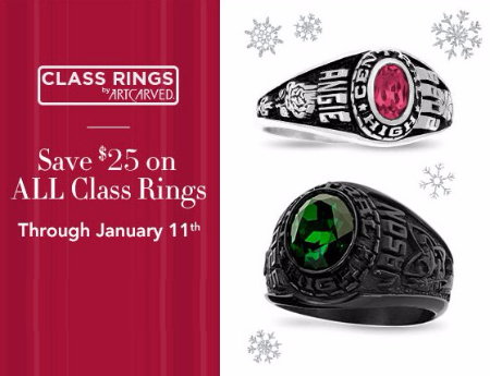 Save $25 on All Class Rings