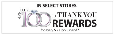 Kay Jewelers | Receive $100 in Thank You Rewards