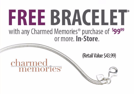 Free Bracelet With Charmed Memories Purchase at Kay Jewelers