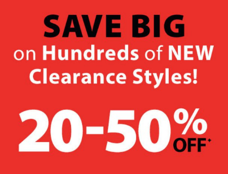 0f78b31ac Don't miss on this sale! Shop in store and enjoy 20-50% off hundreds of new  clearance styles.