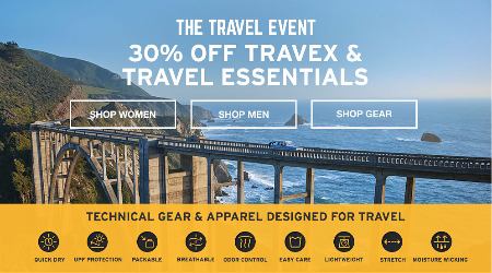 The Travel Event: 30% Off Travex And Travel Essentials