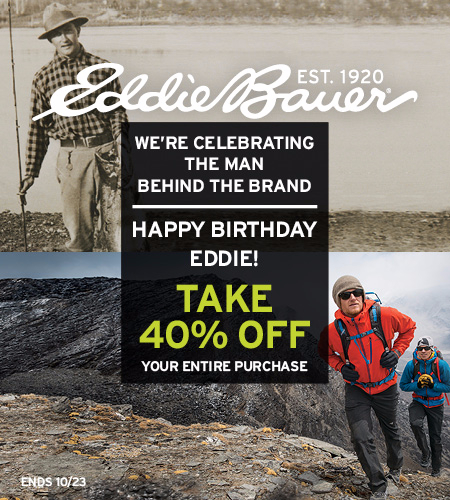 Happy Birthday Eddie! Take 40% Off Your Purchase