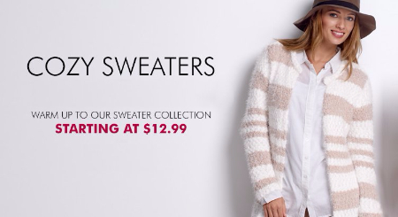 Cozy Sweaters Starting at $12.99