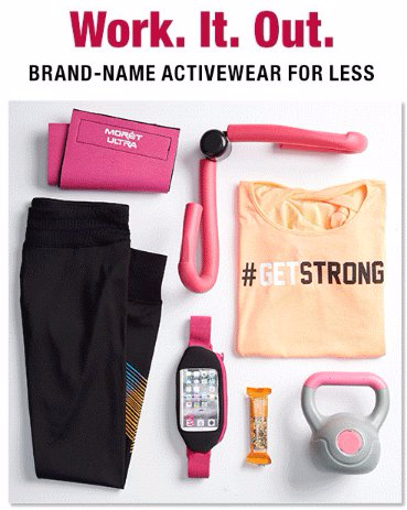 Brand-Name Activewear up to 65% Off Other Retailers' Prices