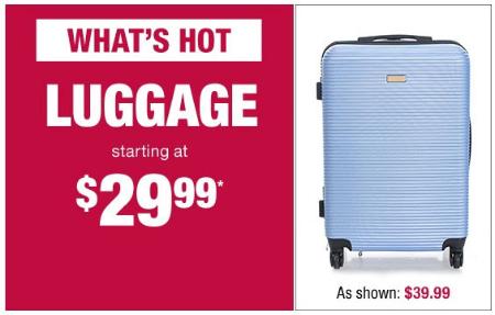 Luggage Starting at $29.99