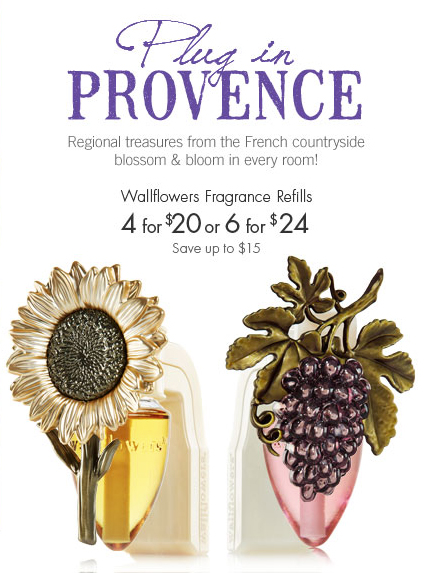 Plug in Provence! at Bath & Body Works