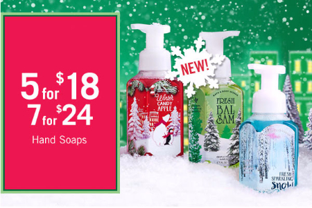 5 For $18 or 7 For $24 Hand Soaps