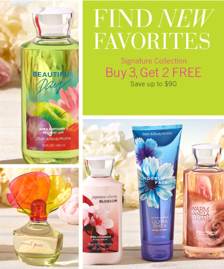B3G2 Free Signature Collection at Bath & Body Works