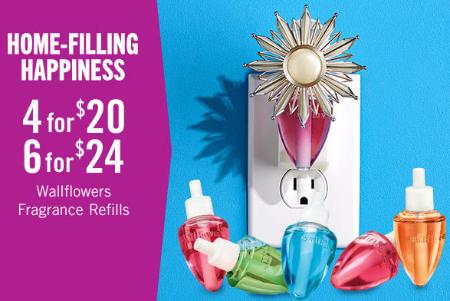 4 for $20 or 6 for $24 Wallflowers Fragrance Refills