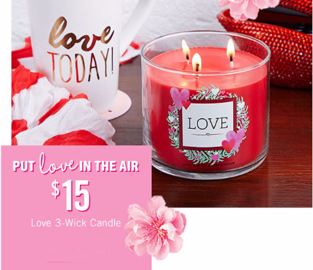 $15 Love 3-Wick Candle