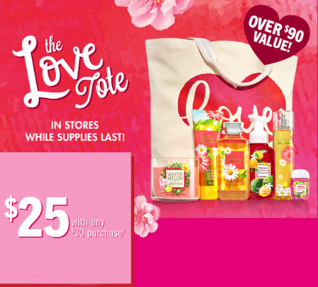 $25 Love Tote With Any $30 Purchase