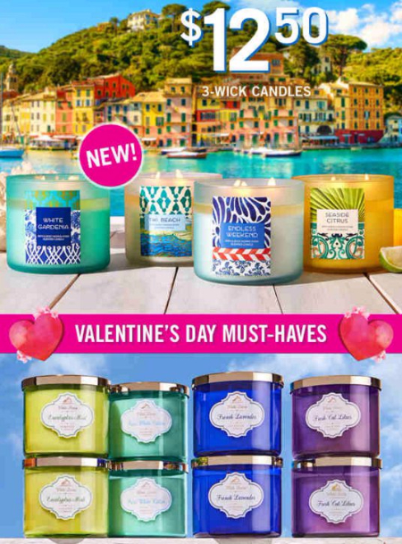 $12.50 Select 3-Wick Candles