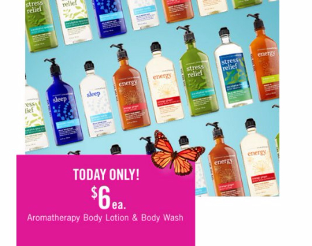 $6 Aromatherapy Body Lotion & Wash