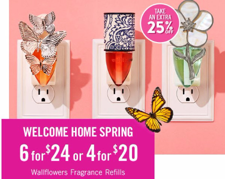 6 for $24 or 4 for $20 Wallflowers Fragrance Refills