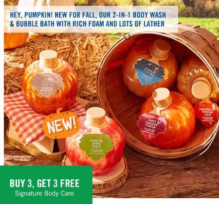 Buy 3, Get 3 Free Signature Body Care